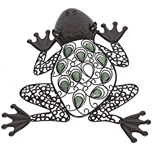 La Hacienda Frog Handmade Metal Wall Art With Glow In The Dark Beads from La Hacienda