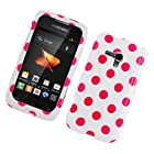 Eagle Cell PISAMM830G182 Stylish Hard Snap-On Protective Case for Samsung Galaxy Rush M830 - Retail Packaging - Pink/White - Polka Dots