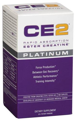 CE2 Platinum-MRI Rapid Absorption Ester Creatine, 180 Caplets