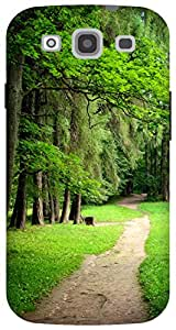 The Racoon Lean forest road hard plastic printed back case / cover for Samsung Galaxy S3