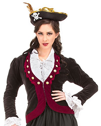 Charlotte de Berry Privateer Pirate Renaissance Medieval Womens Costume Jacket