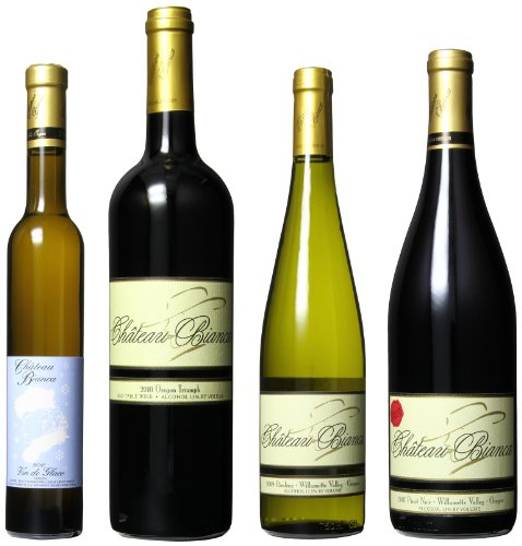 Chateau Bianca Willamette Valley Favorites Mixed Pack, 1 X 375 Ml, 3 X 750 Ml