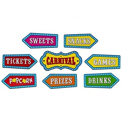 8 Circus Cutouts Carnival Banner Decorations Wall or Door Birthday Party Supplies