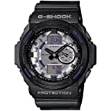 Casio G Shock Anti-magnetic Silver Dial Black Resin Mens Watch GA150MF-8ACR