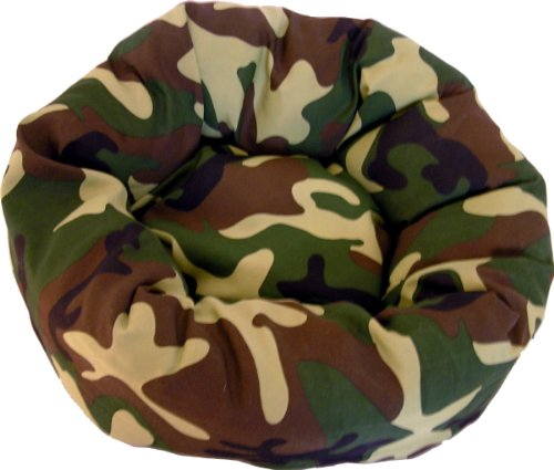 Bild: Hundebett Camouflage  Schlafplatz  Donout  robust und unempfindlich  45cm  Dogs Stars