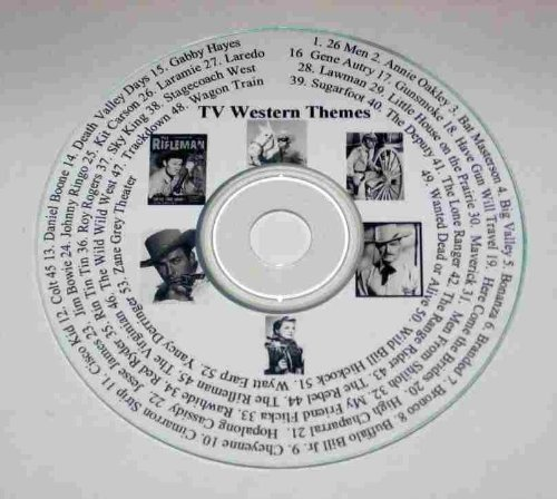 CD of 53 TV Theme Songs from Western / Cowboy Television Shows from 1950s, 1960s