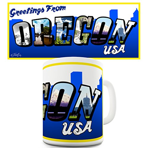 Twisted Envy Greetings From USA Oregon-Tazza in ceramica