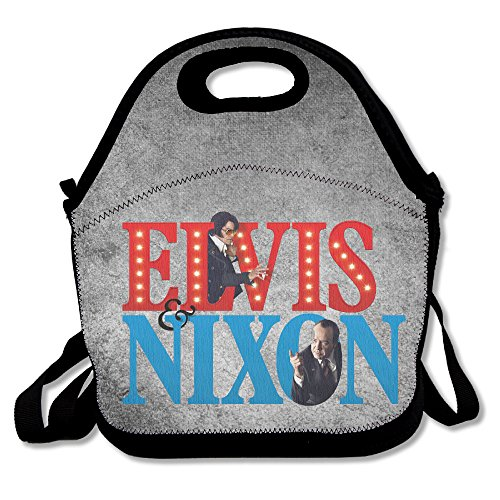 Bakeiy Elvis & Nixon Lunch Tote Bag Lunch Box Neoprene Tote For Kids And Adults For Travel And Picnic School