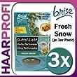 3 x Brise Duft�l-Kerze FRESH SNOW 3er Pack je 15g Duftkerze