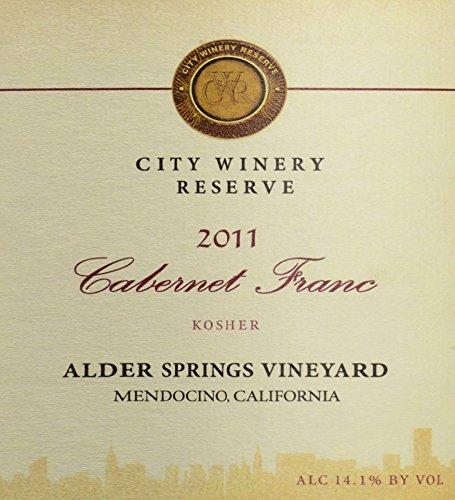 2011 City Winery Cabernet Franc Alder Springs Vineyard Reserve 750 Ml
