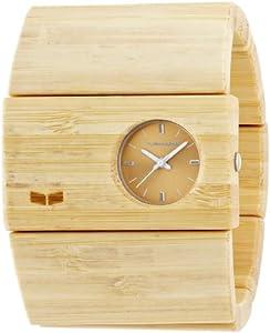 Vestal Women's RSW005 Rosewood Bamboo Bangle Watch