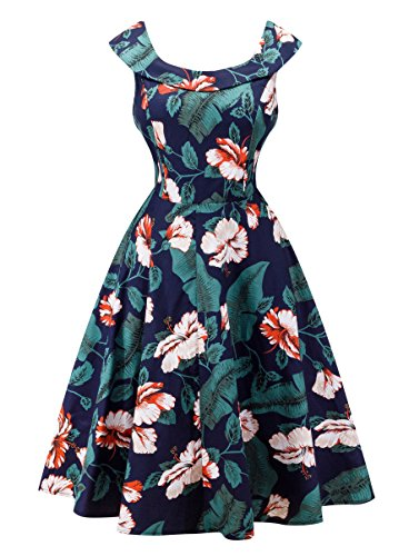 Angerella Vintage 50s Party Cocktail Dresses Sleeveless Retro Dress with Belt 0