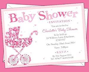 12 personalised baby shower invitations bsi 13 baby