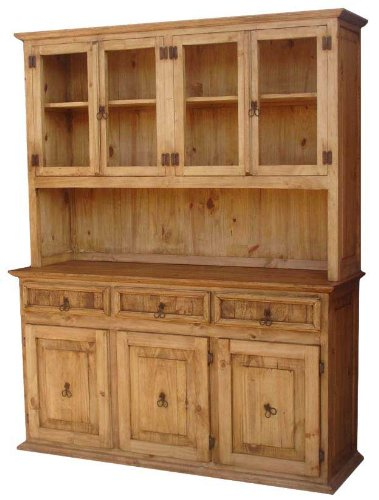 Santa Fe Rustic Wood China Cabinet Medium