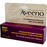 Aveeno 1% Hydrocortisone Anti, Itch Cream, Maximum Strength, 1 oz