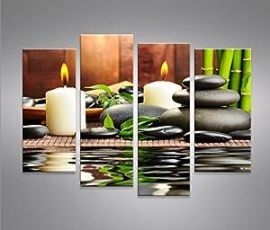 Zen Stones 4 Quadri moderni su tela - pronti da appendere - montata su pannelli in legno ...