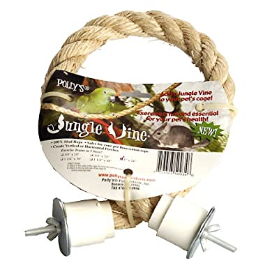 Polly's Jungle Vine Sisal Rope Bird Perch, 1-Inch x 2ft