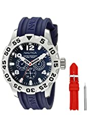 Nautica Men's NAI14502G BFD 100 Box Set Analog Display Analog Quartz Blue Watch