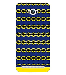 PrintDhaba Bat Pattern D-1485 Back Case Cover for ASUS ZENFONE MAX ZC550KL (Multi-Coloured)