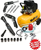 Wolf Sioux 50, 2.5HP, 9.5CFM, 230V, MWP: 116psi, 50 Litre Air Compressor + Autoshop 2 Deal Includes 5 Piece Spray Kit and 3 Piece Air Tool Kit