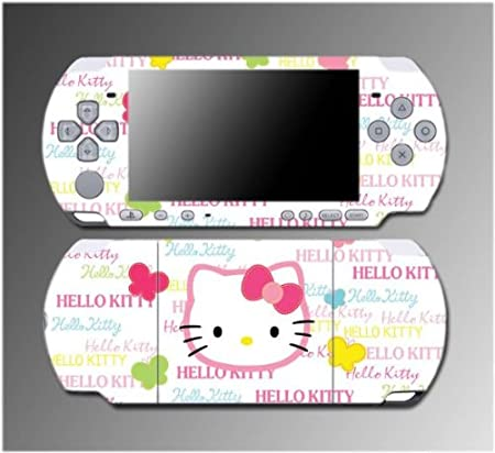 Cute Kitty Rainbow Princess Butterfly Gift Game Vinyl Decal Sticker Cover Skin Protector #13 for Sony PSP Slim 3000 3001 3002 3003 3004 Playstation Portable