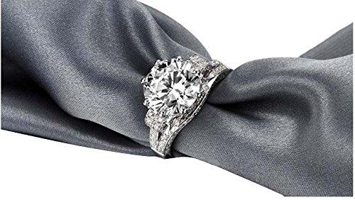Luxury Vintage Style Jewelry Genuine 3 Carat Sona Lab Diamond Real 14k Gold for Women Aneis De Diamante Wedding Engagement Rings
