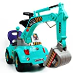 Blue Digger scooter, Ride-on excavato...