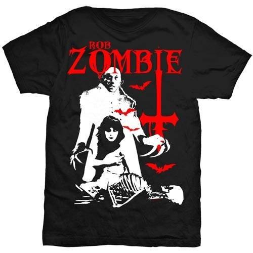 Rob Zombie Teenage Nosferatu Pussy da uomo con logo ufficiale Nero T-Shirt, nero (nero), XXL