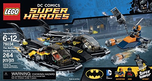 LEGO Super Heroes 76034 the Batboat Harbor Pursuit Building Kit at Gotham City Store