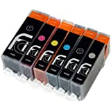 6x Canon PGI-550 XL / CLI-551 XL FCI Compatible Printer Ink Cartridges to replace (Contains: 1x 550BK Large Black, 1x 551C Cyan, 1x 551M Magenta, 1x 551Y Yellow, 1x 551BK Small Black, 1x 551 Grey) for Canon Pixma MG6350, MG7150 Printers Double Capacity Inks Cartridge