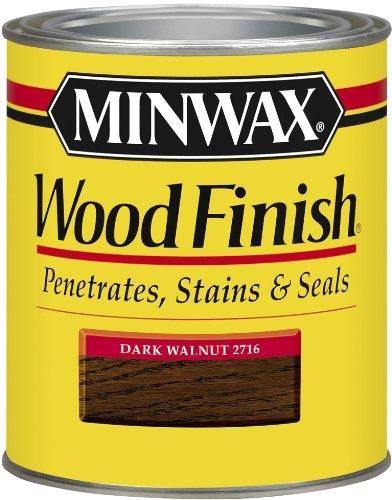 Minwax 70012 1 Quart Wood Finish Interior Wood Stain, Dark Walnut