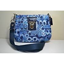 Hot Sale Coach Limited Edition Poppy Signature Fashion Swingpack Crossbody 47921 Denim