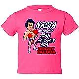 Camiseta niño Rocky Balboa nacida para - Rosa, 7-8 años