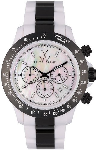 ToyWatch Women's 18213-GM Plasteramic Black Accent Chronograph Dial Watch