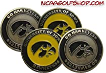 (4) Iowa Hawkeyes Golf Ball Markers
