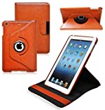 Ionic New 2014 Apple iPad Mini with Retina Display / Apple iPad Mini 2 Rotating Stand Leather Case Tablet 4G LTE (Brown)