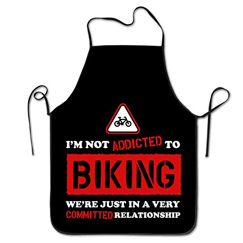 Addicted To Biking 54 Sports Logo Design Funny Personalized Aprons (2)