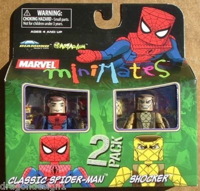 Picture of Art Asylum Marvel MiniMates Series 24 Mini Figure 2-Pack Classic Spider-Man and Shocker (B001QMNZGM) (Spider-Man Action Figures)