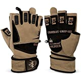 Weightlifting Gloves for Crossfit Workout Training - Fitness Gym Bodybuilding Gloves for Men or Women - Best for Heavy Weight Lifting Exercise Integrated W. Full Wrist Support Wraps