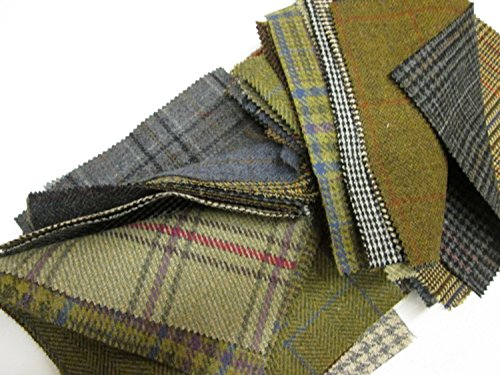 tweed-fabric-patchwork-patches-10-pieces