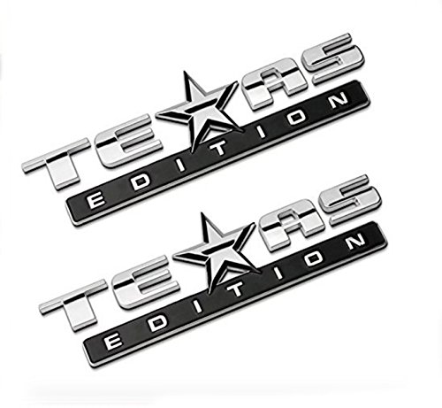 Chromed TEXAS EDITION Chromed Emblem Badge Decal Sticker Back for Chevy Silverado and GMC Sierra Car Styles Accessories 2Pcs (2008 Silverado Gas Pedal compare prices)