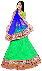 Jay Ambe Creation Women's Viscose Unstitched Lehenga Choli (dno127e, Blue & G...