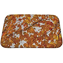 "Gear New Colorful Fall Leaves Bath Mat, Microfiber, Foam With Non Skid Backing, 24""x17"", GN14635"