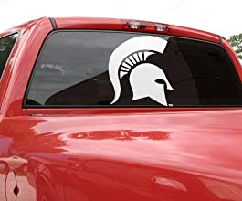 NCAA Michigan State Spartans 183939 x 183939 White Logo Decal by Wincraft