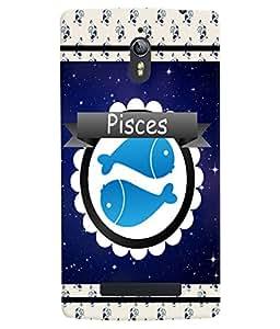 Fuson 3D Printed Sunsign Pisces Designer back case cover for Oppo Find 7 - D4433