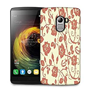 Snoogg Cream Roses And Leaves Designer Protective Phone Back Case Cover For Lenovo Vibe K4 Note