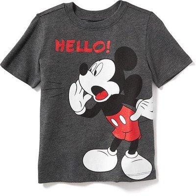 オールドネイビー OLD NAVY/ ディズニーミッキーマウスティ ダーク チャコール グレー トップス半袖Tシャツ 5歳【並行輸入】