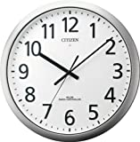 CITIZEN 防滴防塵タイプ(屋内用)電波掛時計 ステンレス枠 8MY484-019