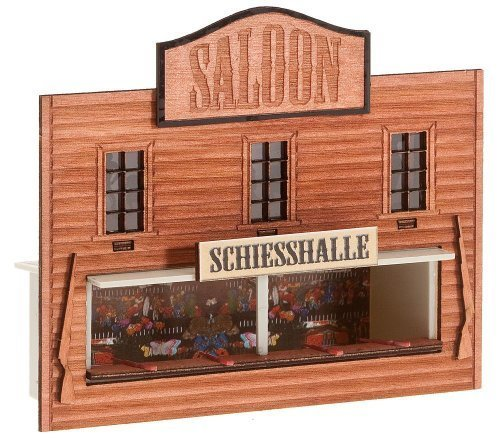 HO Scale Saloon Shooting Gallery - Kit (Laser-Cut Wood) -- 2-3/8 x 1-11/16 x 3-1/4 10 x 4.3 x 8.3cm, Model: 140475, Toys & Gaems