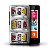 STUFF4 Phone Case Cover for Nokia Lumia 530 Bars Design Slot Machine Collection